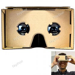 Google Cardboard Cellphone VR Virtual Reality 3D Glasses für 3,55€ @tinydeal