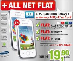 @handyservice: 2x 19,90€/Monat für 2x Telefonflat alle Netze, 2x 2GB Speicherkarte, 2x Internet Flat 500MB, 2x Samsung Galaxy Y, 1x 81cm LED TV, 1x 10 Google Tablet