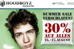 @hoodboys.de: 30% auf Alles auch Reduziertes mit Gutscheincode beim Livestyleshop (MBW:26€)