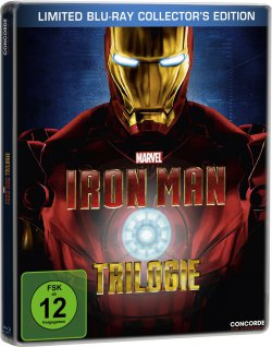 Iron Man 1-3 Bluray Trilogie – Steelbook + Iron Man Comic Limited Edition 15,97€ (Idealo: 24€)