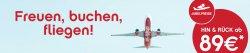 Jubelpreise bei AirBerlin: Hin- & Rückflug ab 89€ (Reisen bis 31.03.2015)