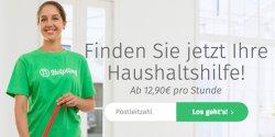 1 Stunde gratis Haushaltshilfe dank Gutscheincode @ Helpling.de bei Buchung von mind. 2 Std.