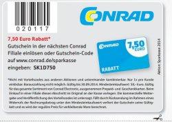 [LOKAL&ONLINE] Conrad 7,50 Gutschein MBW 50€  @ Frankfurter-Sparkasse