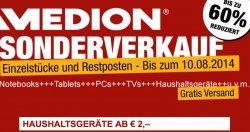 @medion.de: Sonderverkauf Einzel- Restbestände bis 60% reduziert, Waren ab 2,-€