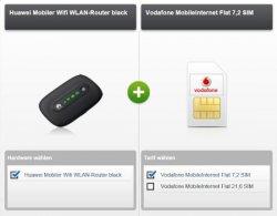 @modeo.de bietet 4,5 GB original Vodafone LTE (bis 50MBit/s) für 4,99 €/Monat durch Auszahlung – incl. mobilem Hotspot