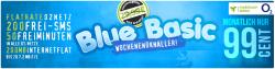 o2 Blue Basic Tarif, o2-Flat + Internetflat + 200 Frei-SMS + 50 Freiminuten für 0,99€ mtl. @ Handyday
