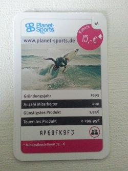 Planet-Sports 15€ Rabatt mit Gutscheincode