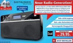 @pollin.de: DAB+/UKW Stereo-Radio DUAL DAB18 nur 29,99€ zzg. Versand (idealo: ab 50,05€)