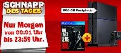 Schnapp-des-Tages @MediaMarkt: Playstation 4 + The Last of us + Kamera + 2ten Controller für nur 449 Euro (statt 507,05 Euro bei Idealo)