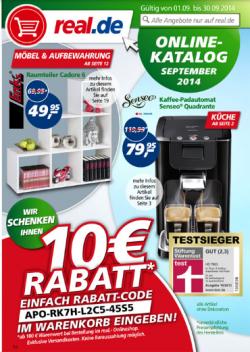 Real 10€ Gutschein MBW 100€ gültig ab 01.09 – 30.09 + bis zu 80% rdeuziert