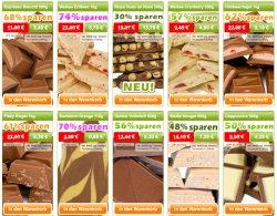 @schokoladenoutlet: leckere Bio-Bruchschokolade Kiloweise bis über 70% reduziert