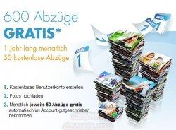 @Snapfisch 600 Abzüge Gratis für Neukunden (1 Jahr, monatlich 50 kostenlose Abzüge )