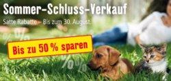 SSV bei Fressnapf – bis 50% Rabatt !