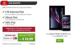 Tablet + Smartphone Deal bei sparhandy: z.B. Samsung Galaxy S5 + Galaxy Tab 3 für 33,99€ im Monat mit Vodafone Tarif