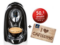 Tchibo Cafissimo Compact + 50€ Geschenkkarte + Probeset ab 79€ inkl. Versand