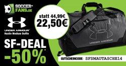 Under Armour Sporttasche mit separatem Nassfach/Schuhfach für 22,50 € statt 44,99 € @Soccer-Fans-Shop.de