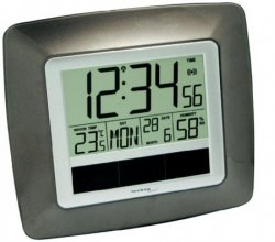 @voelkner.de bietet Solar Funk-Wanduhr mit Innentemperatur- und Luftfeuchtigkeits-Anzeige für 9,99€ (idealo: 20,04€)