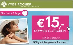 Yves Rocher 15€ Gutschein ab MBW 50€ + 55% Rabatt auf das erste Produkt