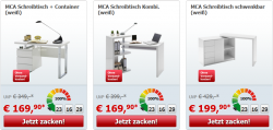 zackzack Möbel-Flash mit ständig wechselnden Liveshopping-Angeboten, z.B. MCA Büroregal Sydney für 169,90 Euro (statt Idealo 194,95 Euro)