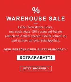 @zalando.de: weitere 20% auf bereits reduzierte Artikel mit Gutscheincode