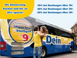 10%, 20% und 30% Gutscheine bei @DeinBus.de