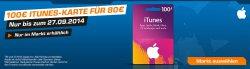 [LOKAL] 100€ iTunes Karte für 80€ bei Saturn im Markt