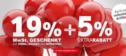 19% MwSt. Geschenkt + 5% Extra Rabatt / 150€ Gutscheincode ab MBW 500€ @ XXXLShop