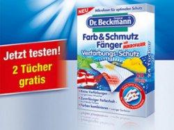 2 Gratis Schmutzfängertücher mit Mikrofaser von Dr.Beckmann anfordern