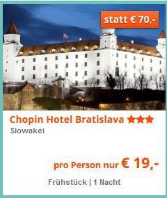 2 Tage in Bratislava Shoppen & Sightseeing  für 19,- p.P. inkl. Frühstücksbuffet @we-are.travel –