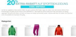 20% Extra-Rabatt auf Sportkleidung durch Gutschein bei Amazon.de