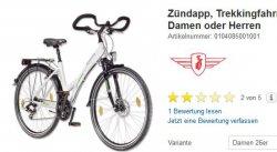 20% Rabatt mit Gutscheincode auf City- und Trekkingräder (versandkostenfrei!) @real.de | z.B. Zündapp Trekkingfahrrad für nur 199,20€