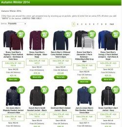 25% Extra-Rabatt auf Bekleidung mit Gutschein @Zavvi.com