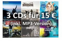 3 CD´s für 15 Euro & jeweils Mp3 Version kostenlos @ Amazon
