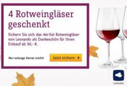 4 Leonardo Rotweingläser geschenkt @baur.de für ihren Einkauf ab 50 €uro
