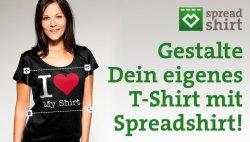 5,-€ Gutscheincode zur Selbstgestaltung von T-Shirts für spreadshirt.de