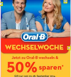 50% Geld zurück auf elektrische Zahnbürsten von Oral B ab 22.09 @Amazon