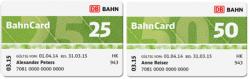 50% Rabatt auf ermäßigte Bahncards 25 und 50 @Bahn.de