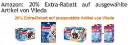 amazon.de: 20% zusätzlicher Rabatt auf ausgewählte Vileda Artikel z.B: Vileda 133649 EasyWring & Clean Wischsystem 23,99€ statt idealo ab 29€