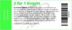 AOK Versichert? Dann Heidepark Gutschein 2für1 geschenkt bekommen (gültig bis 31.05.15)