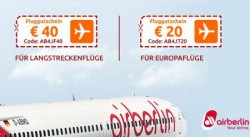 Bis zu 40 € bei Airberlin-Flügen sparen dank Gutschein @opodo.de