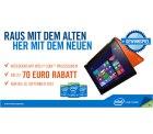 bis zu 70€ Rabatt auf ausgewählte Intel Notebooks @Cyberport