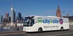 city2city: 25%-Rabattgutschein für ausgewählte Strecken – gültig bis 1. Oktober 2014