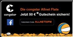 @Congstar: 50€ Gutschein für Neukunden für AllNet Flatrate bei Congstar