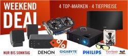 Cyberport Weekendeals: Alle Angebote unter Idealo Bestpreis, z.B. GeForce GTX 750Ti für 119,90€ oder Philips Fidelio kabelloser Lautsprecher für 95€