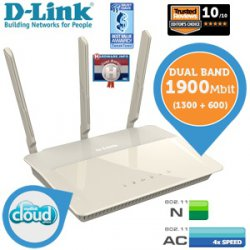 D-Link DIR-880L Dualband-Router mit Wireless AC1900 für 129,95 € (159,73 € Idealo) @iBOOD Extra
