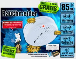 Elektronischer Rauchmelder im Wert von 14,90 €uro GRATIS (nur Versandkosten) @pearl.de