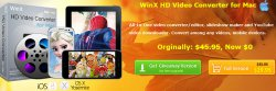 Giveaway HD Video Converter Mac Edition @winxdvd.com, gültig bis Oct.3