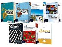 Grafik &. Druckpaket 2014 (7 Vollversionen mit 6 Millionen Vorlagen) GRATIS, nur Versandkosten @ pearl.de