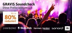 Gravis Soundcheck Sale bis zu 80% reduziert z.B. Philips Bügel-Headset SHL9705WT/00 ab 13,98€
