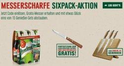 Güde Messer im Wert von 18,50€ Gratis beim Kauf eines Sixpack Pilsener Urquell